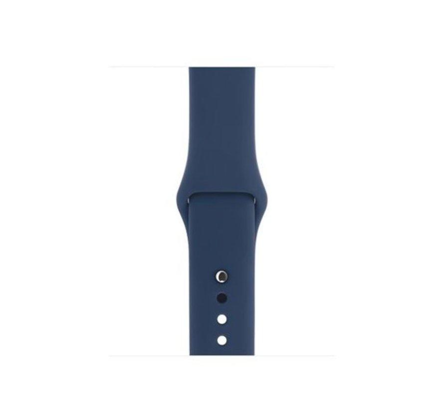 Strap-it® Apple Watch silicone bandje (blauw)