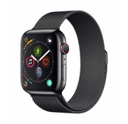Strap-it® Apple Watch Milanese bandje (zwart)