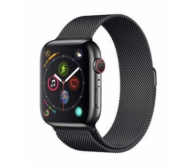 Strap-it® Strap-it® Apple Watch Milanese  bandje (zwart)