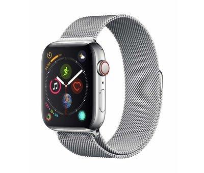 Strap-it® Strap-it® Apple Watch Milanese  band (zilver)