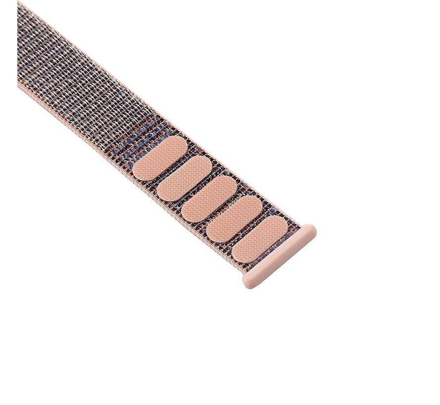 Apple Watch nylon bandje (pink sand)