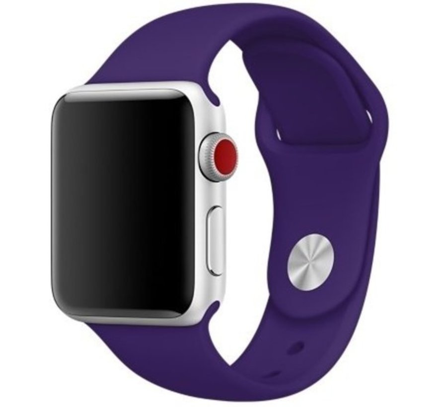 Strap-it® Apple Watch silicone band (paars)