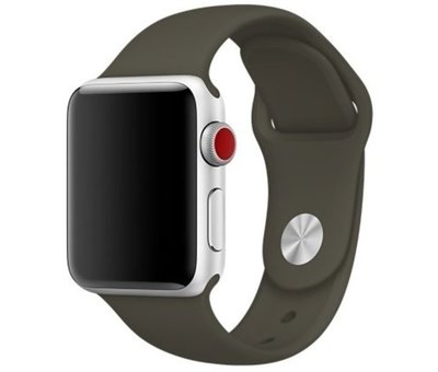Strap-it® Strap-it® Apple Watch silicone band (donkergroen)