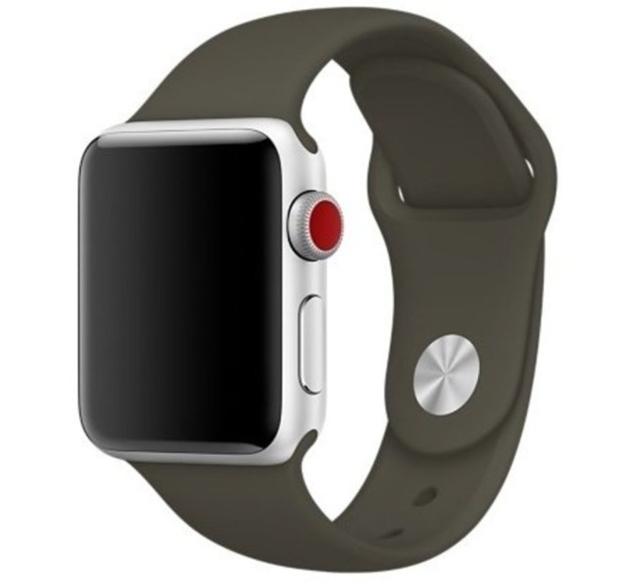 Apple Watch silicone band (donkergroen)