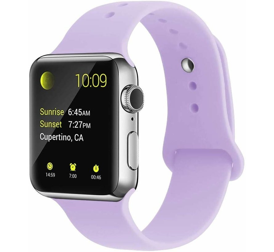 Strap-it® Apple Watch silicone band (lila)