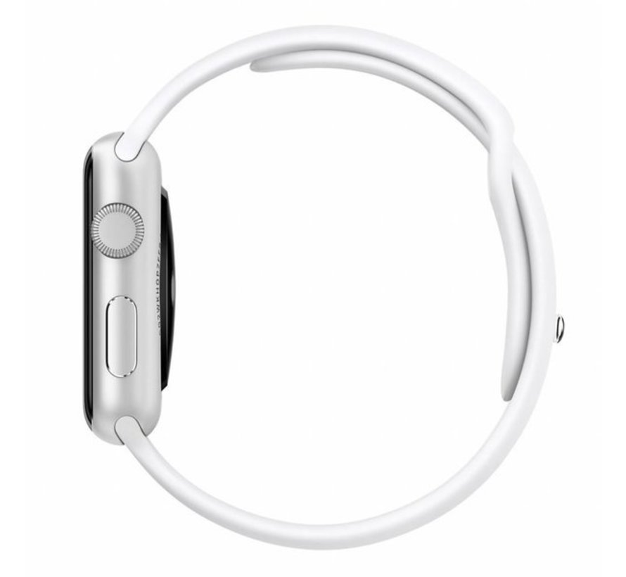 Strap-it® Apple Watch silicone band (wit)