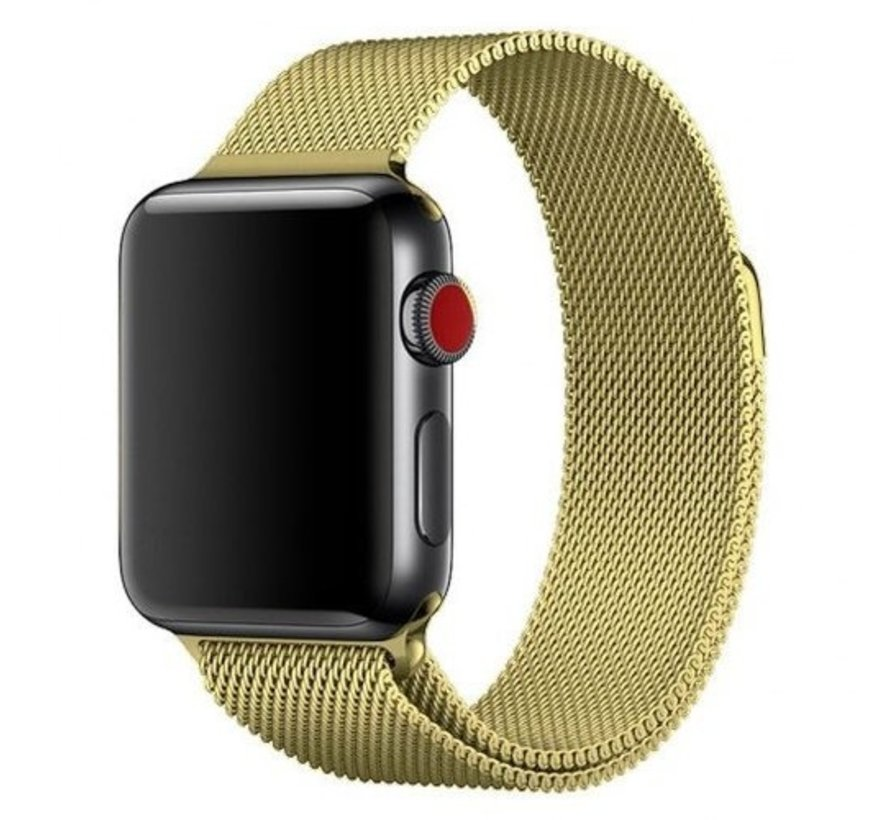 Strap-it® Apple Watch milanese band (goud)