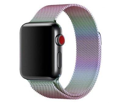 Strap-it® Strap-it® Apple Watch milanese  band (regenboog)