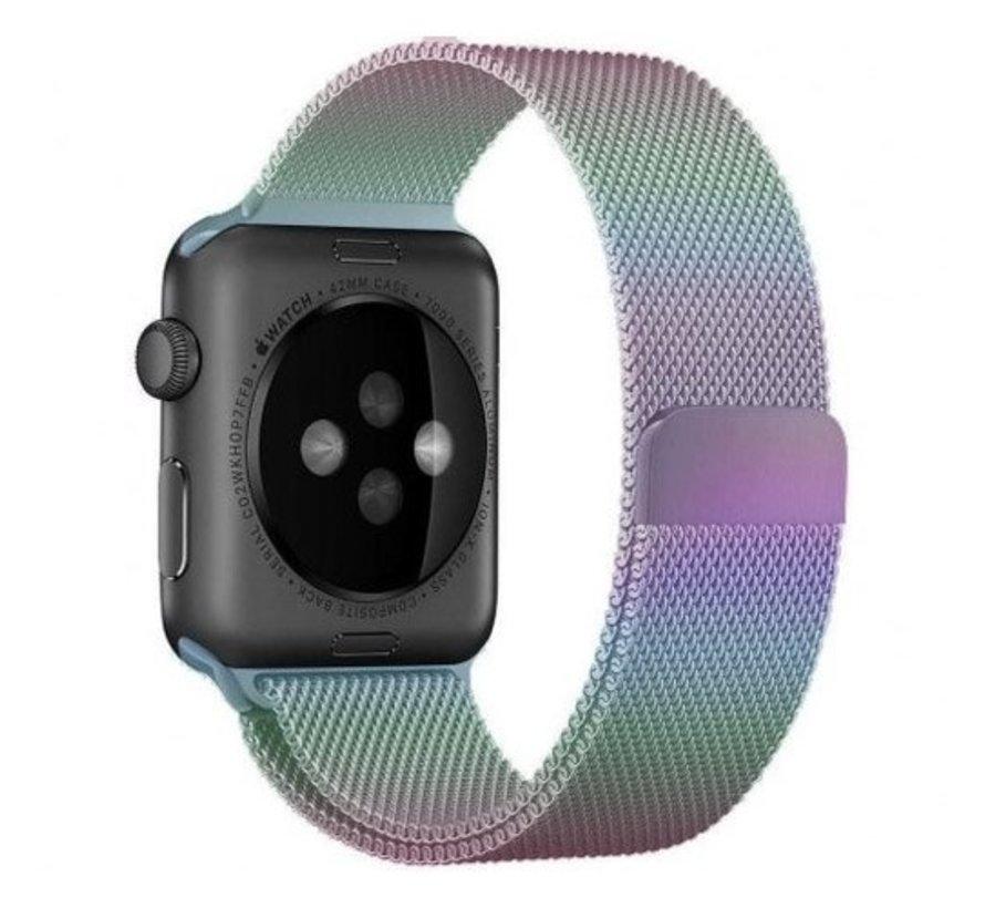 Strap-it® Apple Watch milanese  band (regenboog)