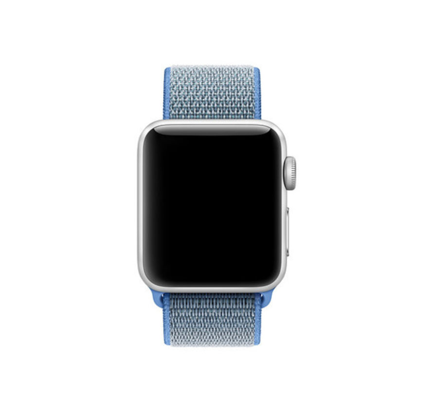 Apple Watch nylon bandje (blauw)