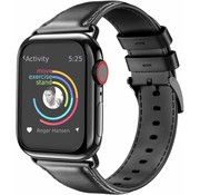 Apple Watch leren band (zwart)