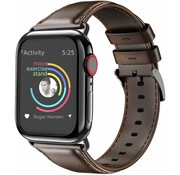 Apple Watch leren band (donkerbruin)
