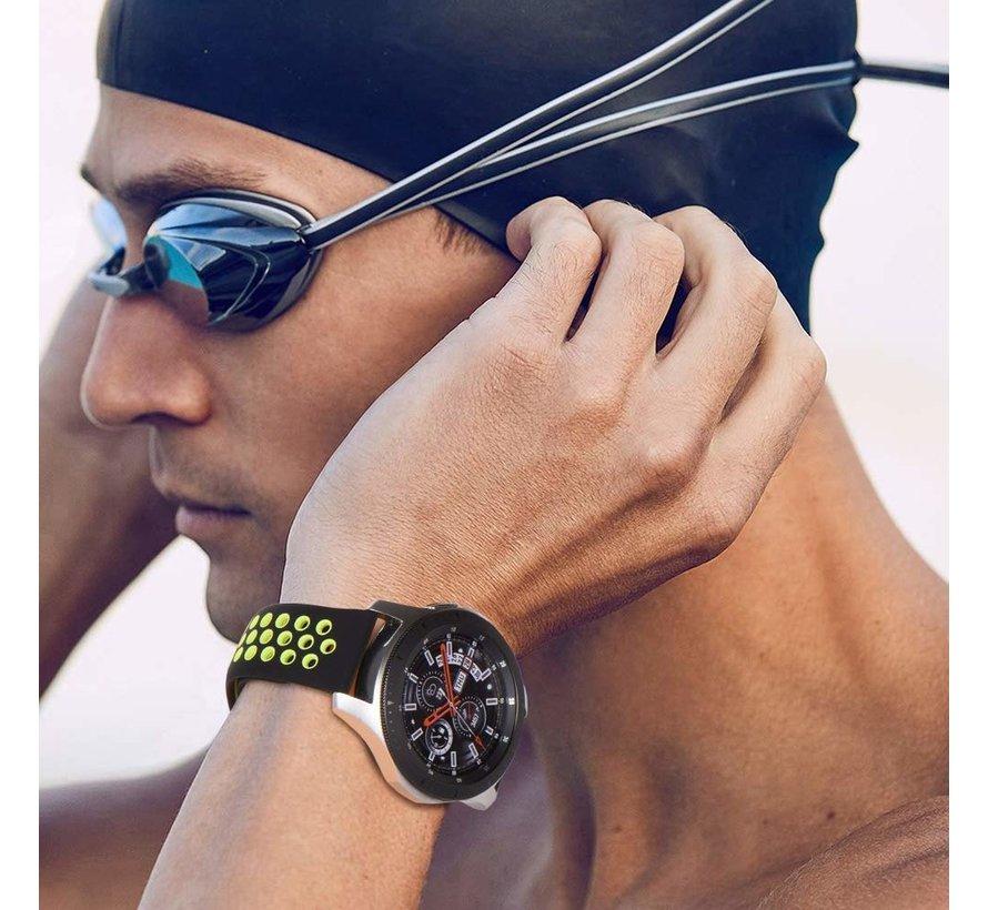 Samsung Galaxy Watch sport band 45mm / 46mm (zwart/geel)