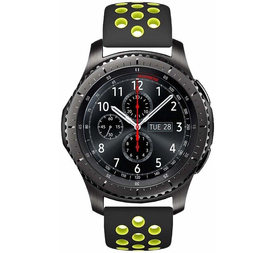Samsung Galaxy Watch sport band 46mm (zwart/geel)