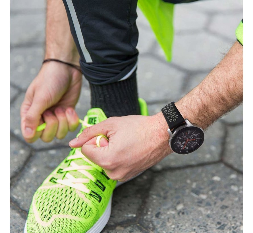 Samsung Galaxy Watch sport band 45mm / 46mm (zwart/grijs)