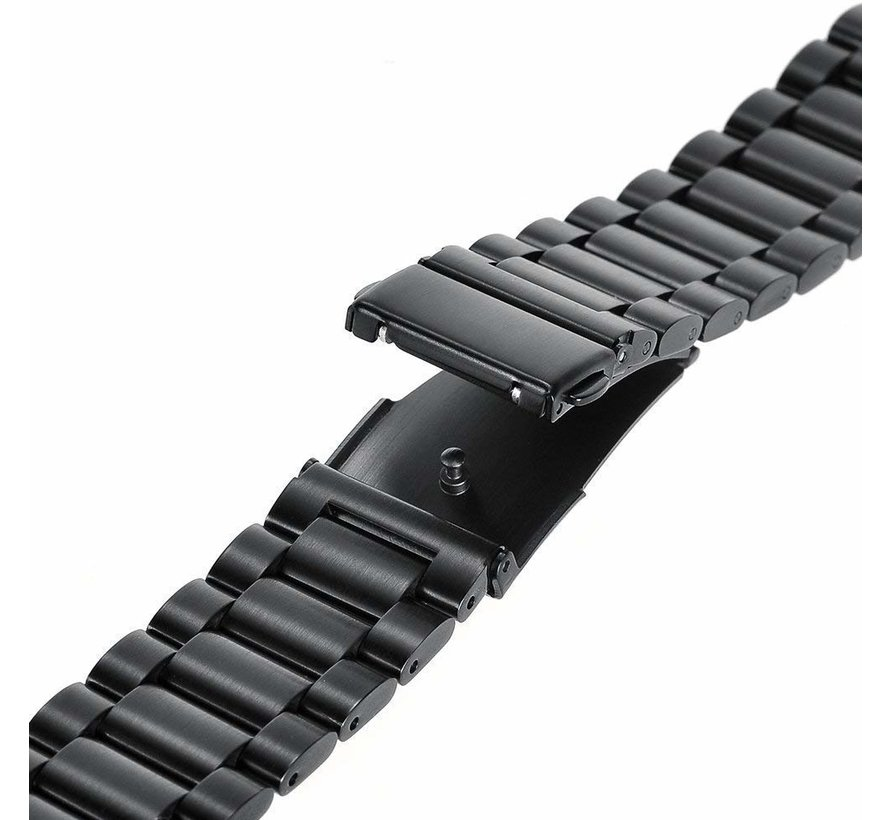 Strap-it® Samsung Galaxy Watch stalen band 45mm / 46mm (zwart)