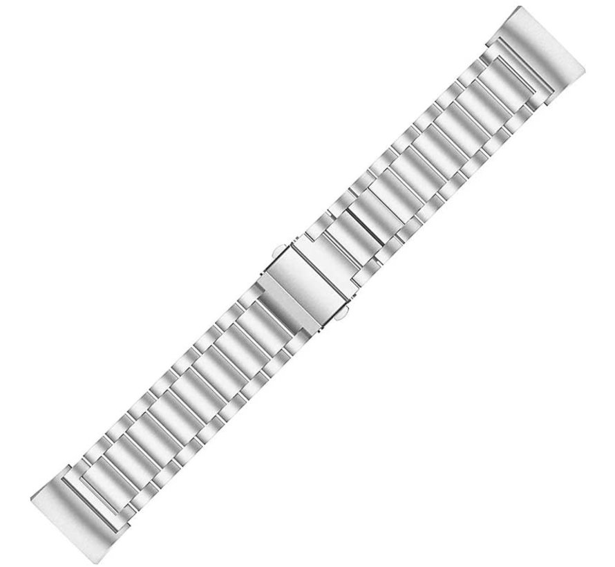 Strap-it® Fitbit Charge 4 stalen band (zilver)