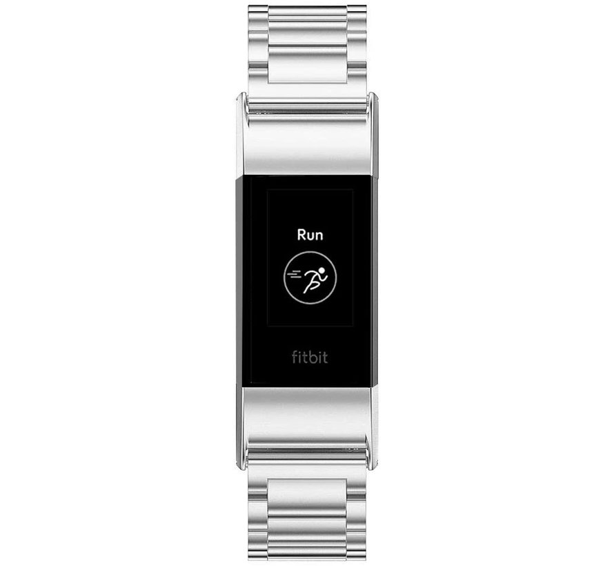 Fitbit Charge 4 stalen band (zilver)