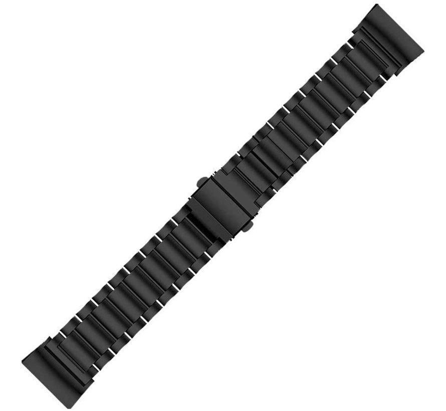 Strap-it® Fitbit Charge 4 stalen band (zwart)