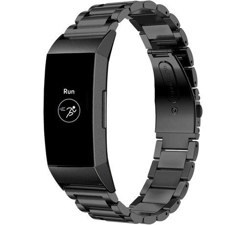 Strap-it® Strap-it® Fitbit Charge 4 stalen band (zwart)