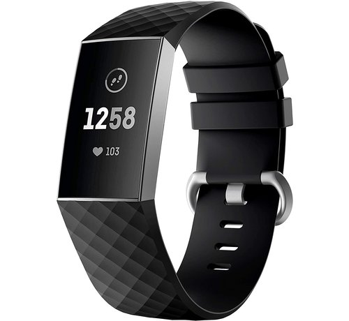Strap-it® Strap-it® Fitbit Charge 4 silicone band (zwart)