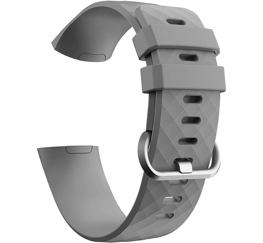 Strap-it® Fitbit Charge 4 silicone band (grijs)