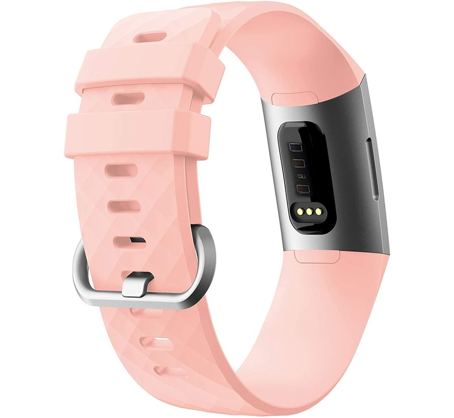 Strap-it® Fitbit Charge 4 silicone band (lichtroze)