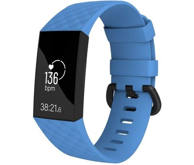 Strap-it® Strap-it® Fitbit Charge 4 silicone band (lichtblauw)