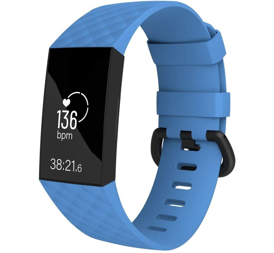 Strap-it® Fitbit Charge 4 silicone band (lichtblauw)