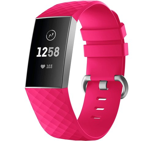 Strap-it® Strap-it® Fitbit Charge 4 silicone band (fel roze)