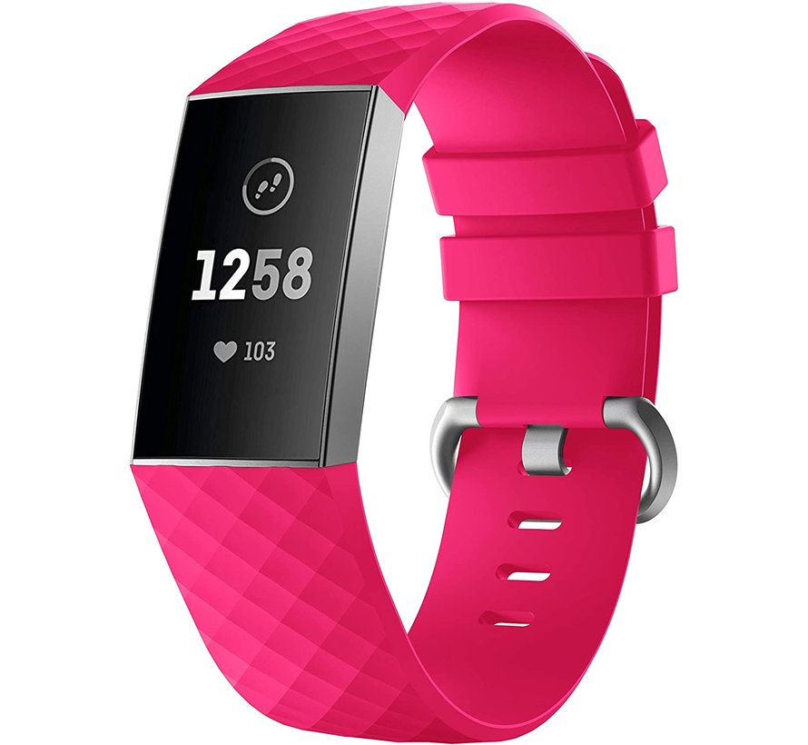 Strap-it® Fitbit Charge 4 silicone band (fel roze)