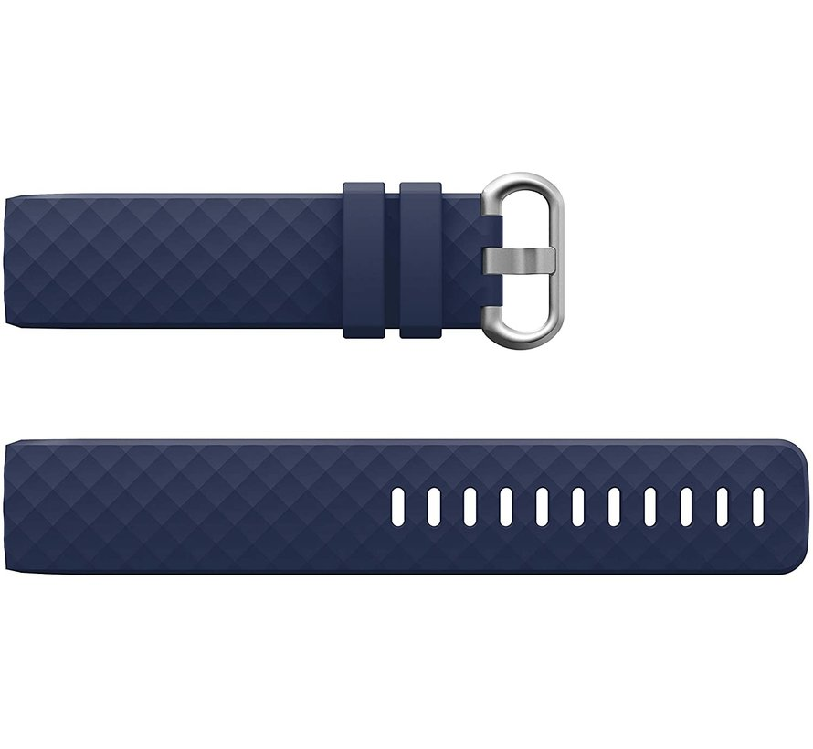 Strap-it® Fitbit Charge 4 silicone band (donkerblauw)