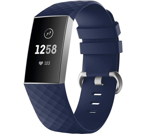Strap-it® Strap-it® Fitbit Charge 4 silicone band (donkerblauw)