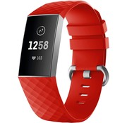 Strap-it® Fitbit Charge 4 silicone band (rood)
