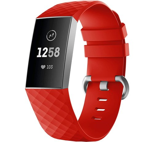 Strap-it® Strap-it® Fitbit Charge 4 silicone band (rood)