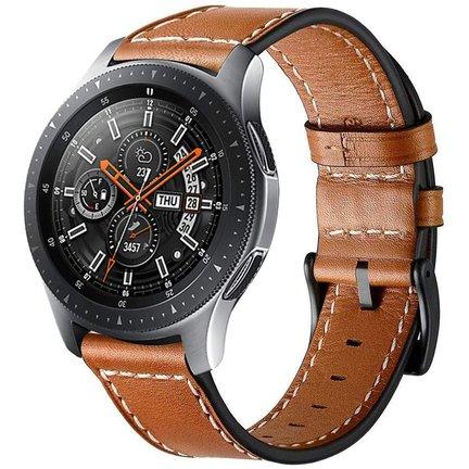 Samsung Galaxy Watch 46mm bandjes leer