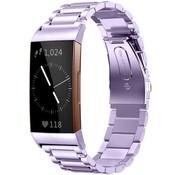 Strap-it® Fitbit Charge 3 stalen bandje (paars)