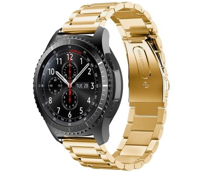 Strap-it® Strap-it® Samsung Galaxy Watch stalen band 45mm / 46mm (goud)