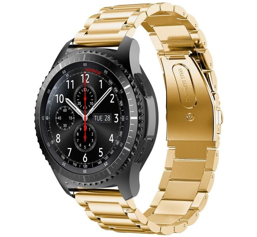 Strap-it® Samsung Galaxy Watch stalen band 45mm / 46mm (goud)