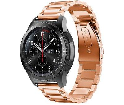 Strap-it® Strap-it® Samsung Galaxy Watch stalen band 45mm / 46mm (rosé goud)