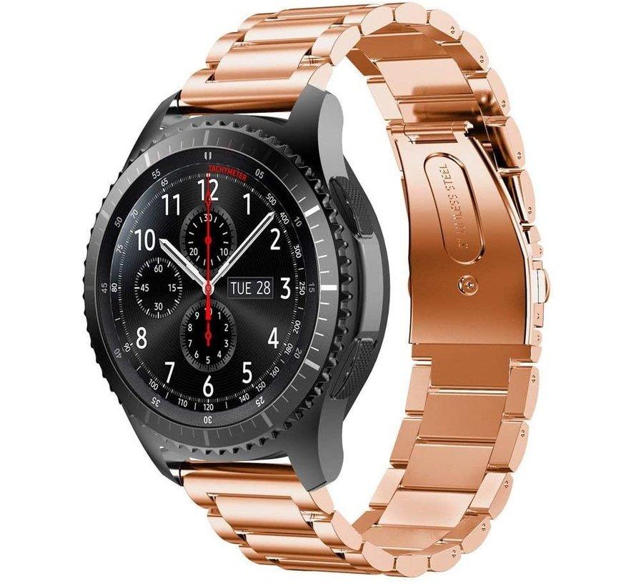 Strap-it® Samsung Galaxy Watch stalen band 45mm / 46mm (rosé goud)
