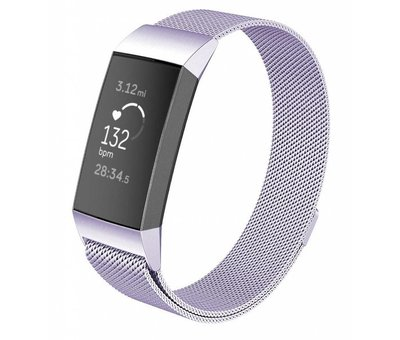 Strap-it® Strap-it® Fitbit Charge 3 Milanese band (lila)