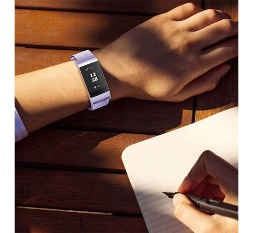 Strap-it® Fitbit Charge 3 Milanese band (lila)