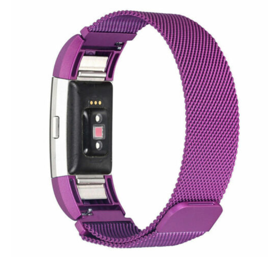 Strap-it® Fitbit Charge 3 Milanese band (paars)