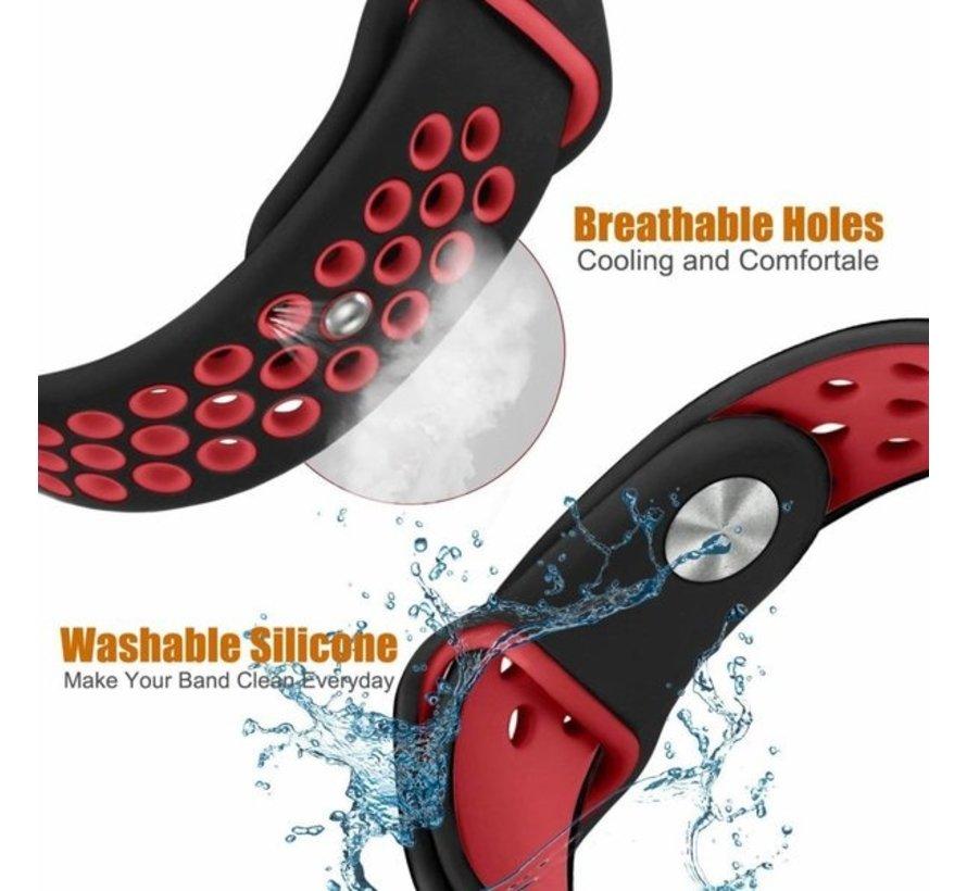 Strap-it® Fitbit Charge 3 sport bandje (zwart rood)
