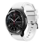 Samsung Galaxy Watch siliconen bandje 45mm / 46mm (wit)