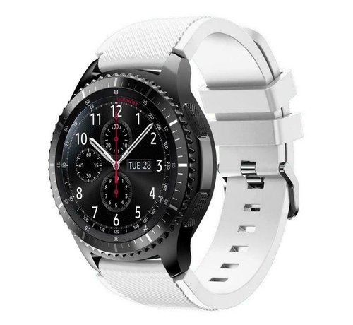 Strap-it® Strap-it® Samsung Galaxy Watch siliconen bandje 45mm / 46mm (wit)