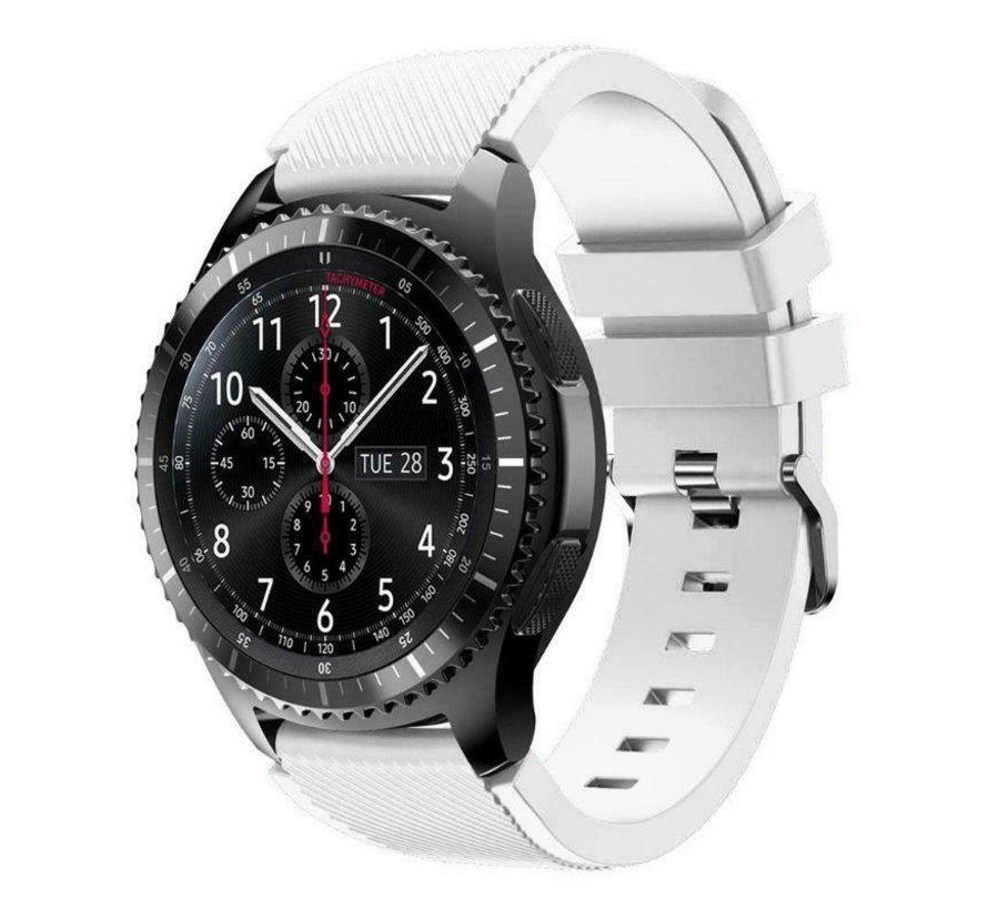 Strap-it® Samsung Galaxy Watch siliconen bandje 45mm / 46mm (wit)