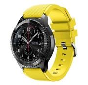 Strap-it® Samsung Galaxy Watch siliconen bandje 45mm / 46mm (geel)