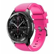Samsung Galaxy Watch siliconen bandje 45mm /  46mm (knalroze)